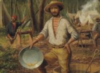 Добытчики во времена золотой лихорадки в Австралии